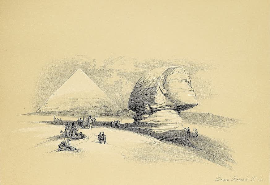 The Holy Land : Syria, Idumea, Arabia, Egypt & Nubia Vols. 3 & 4 - General View of the Ruins of Luxor, from the Nile (1855)