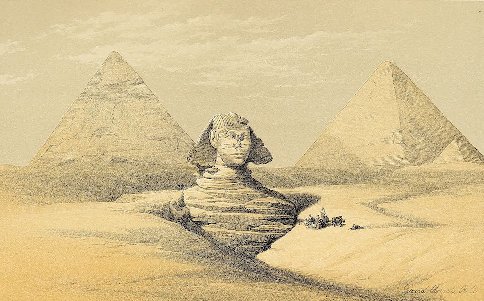 The Holy Land : Syria, Idumea, Arabia, Egypt & Nubia Vols. 3 & 4 - Side View of the Great Sphinx (1855)