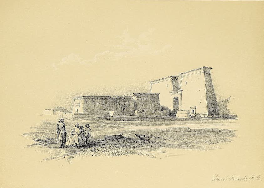 The Holy Land : Syria, Idumea, Arabia, Egypt & Nubia Vols. 3 & 4 - Head of the Great Sphinx, Pyramids of Geezeh (1855)