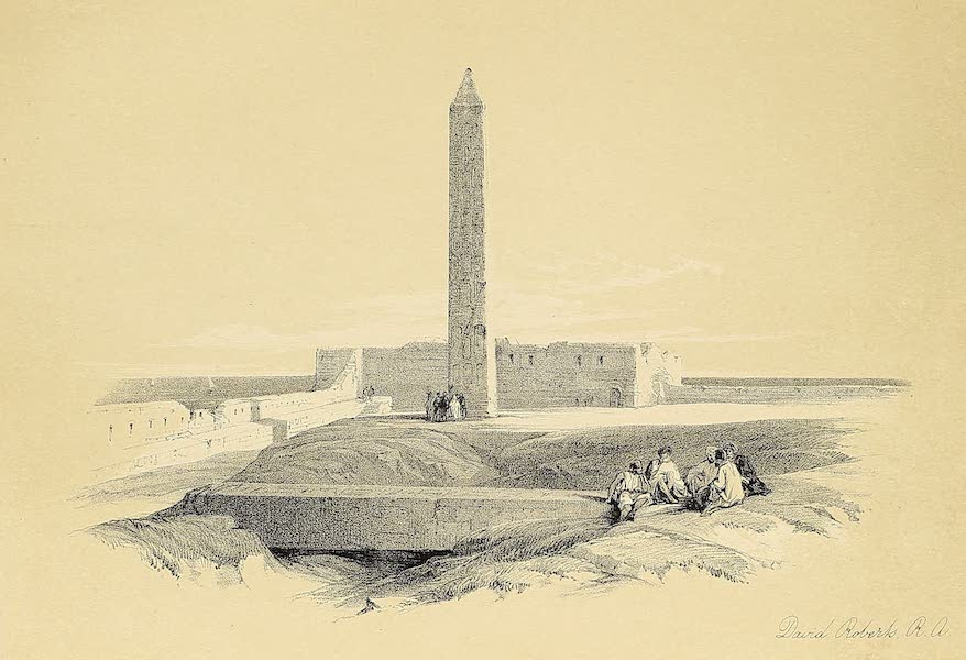 The Holy Land : Syria, Idumea, Arabia, Egypt & Nubia Vols. 3 & 4 - Central Avenue of the Great Hall of Columns, Karnak (1855)