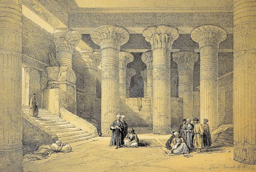 The Holy Land : Syria, Idumea, Arabia, Egypt & Nubia Vols. 3 & 4 - Ruins of Maharraka, Nubia (1855)