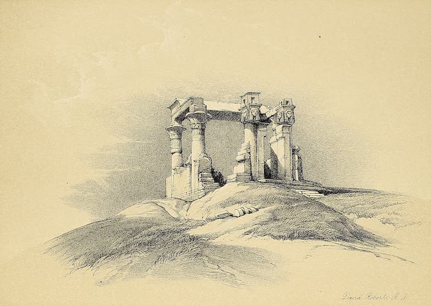 The Holy Land : Syria, Idumea, Arabia, Egypt & Nubia Vols. 3 & 4 - Interior of the Temple of Esne, in Upper Egypt (1855)