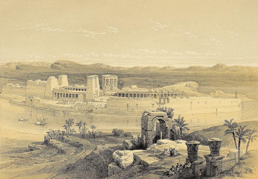 The Holy Land : Syria, Idumea, Arabia, Egypt & Nubia Vols. 3 & 4 - Temple of Wady Kardassy, Nubia (1855)