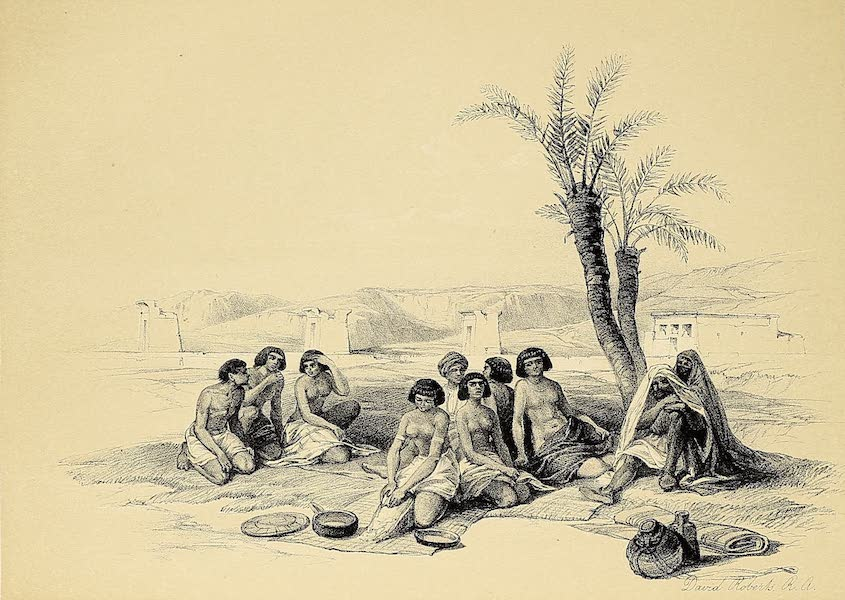 The Holy Land : Syria, Idumea, Arabia, Egypt & Nubia Vols. 3 & 4 - General View of the Island of Philae, Nubia (1855)