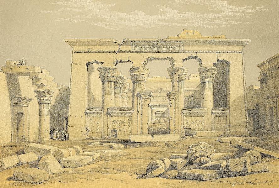The Holy Land : Syria, Idumea, Arabia, Egypt & Nubia Vols. 3 & 4 - Portico of the Temple of Kalabshe, Nubia (1855)