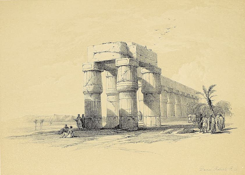 The Holy Land : Syria, Idumea, Arabia, Egypt & Nubia Vols. 3 & 4 - View at Luxor, Thebes (1855)