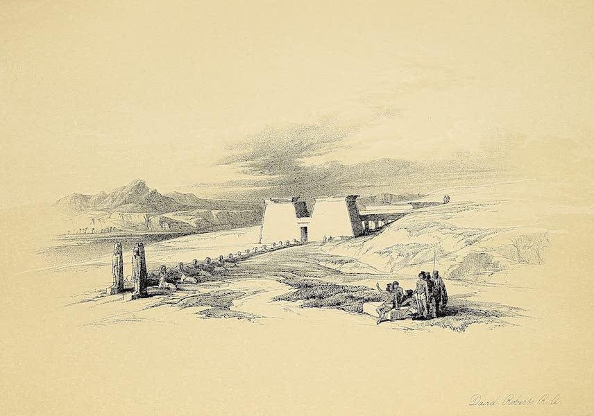 The Holy Land : Syria, Idumea, Arabia, Egypt & Nubia Vols. 3 & 4 - Approach to the Temple of Wady Saboua, Nubia (1855)
