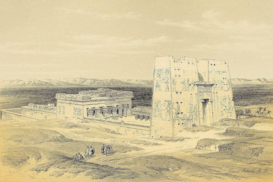 The Holy Land : Syria, Idumea, Arabia, Egypt & Nubia Vols. 3 & 4 - Temple of Edfou, Ancient Apollinopolis, Upper Egypt (1855)