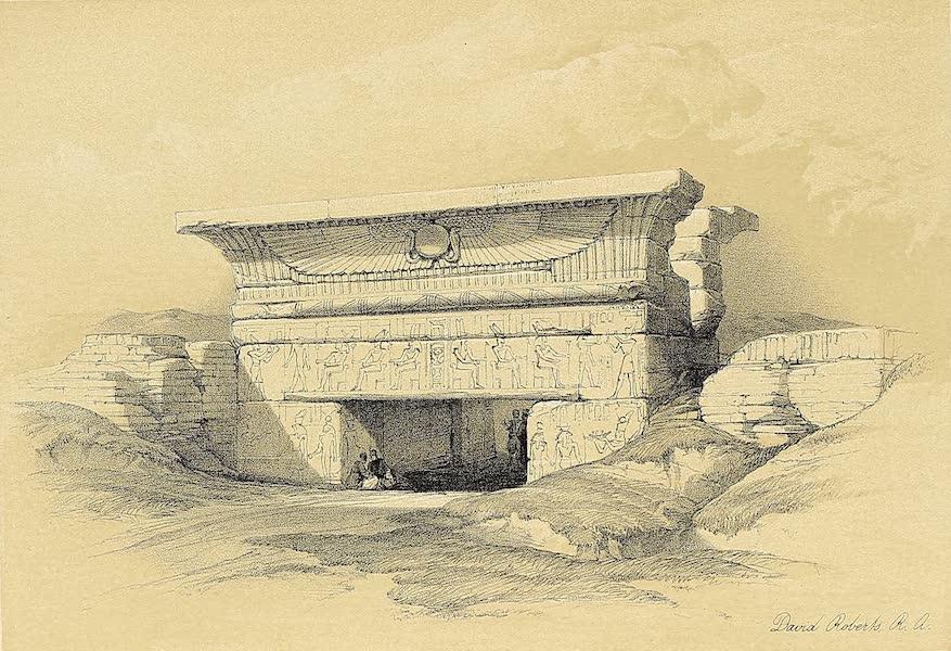 The Holy Land : Syria, Idumea, Arabia, Egypt & Nubia Vols. 3 & 4 - Gateway at Dendera (1855)