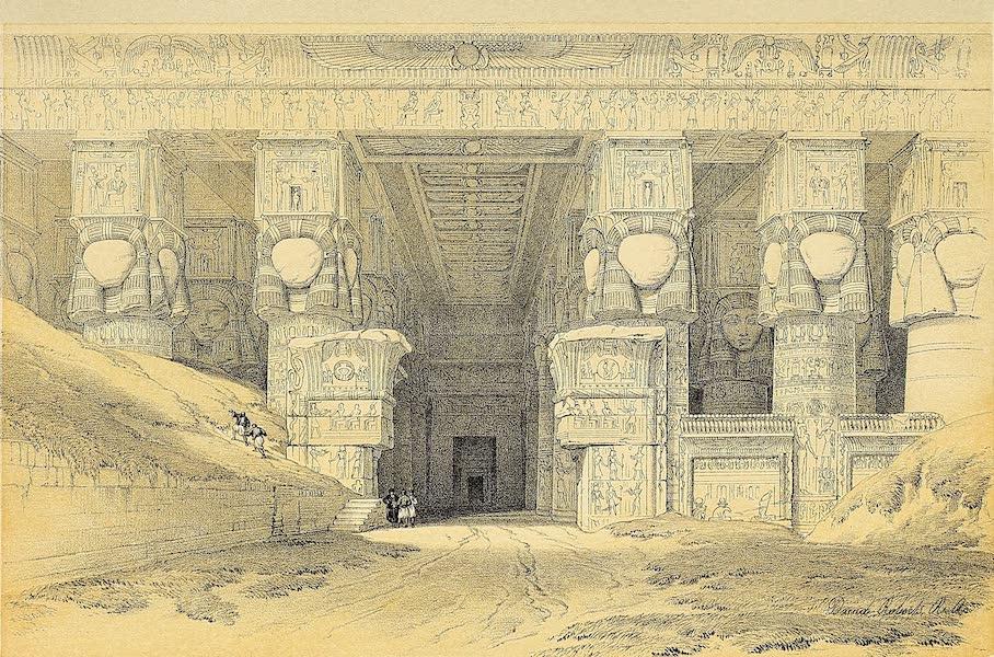 The Holy Land : Syria, Idumea, Arabia, Egypt & Nubia Vols. 3 & 4 - Portico of the Temple of Dendera (1855)