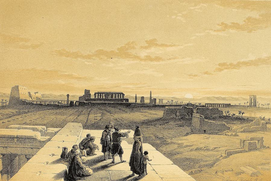 The Holy Land : Syria, Idumea, Arabia, Egypt & Nubia Vols. 3 & 4 - General View of the Ruins of Karnak, from the West (1855)