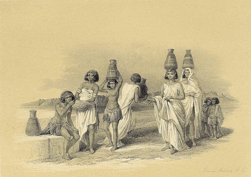 The Holy Land : Syria, Idumea, Arabia, Egypt & Nubia Vols. 3 & 4 - Nubian Women at Korti  (1855)