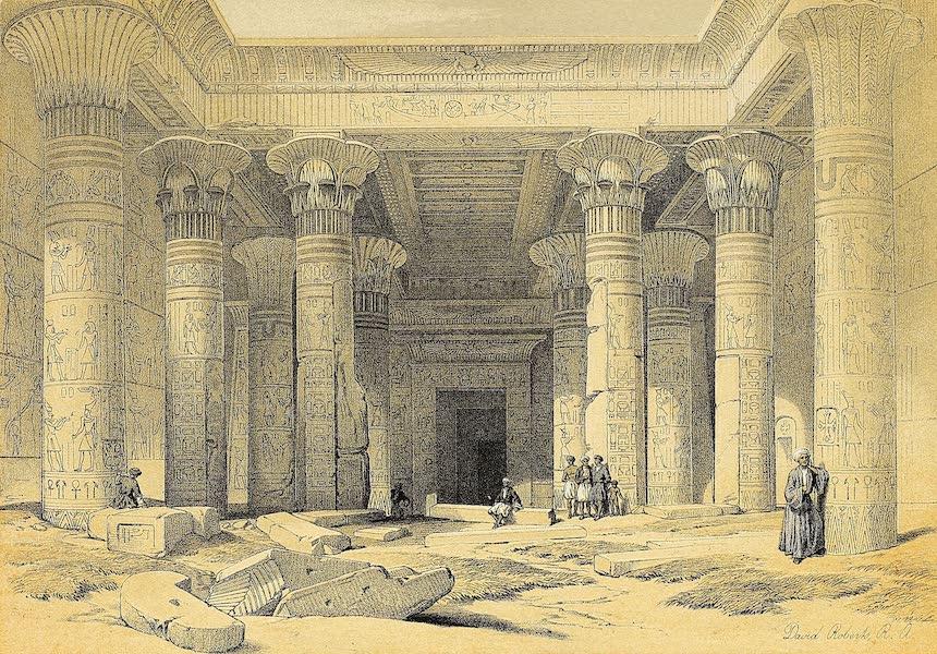 The Holy Land : Syria, Idumea, Arabia, Egypt & Nubia Vols. 3 & 4 - Grand Portico at the Temple of Philae, Nubia (1855)
