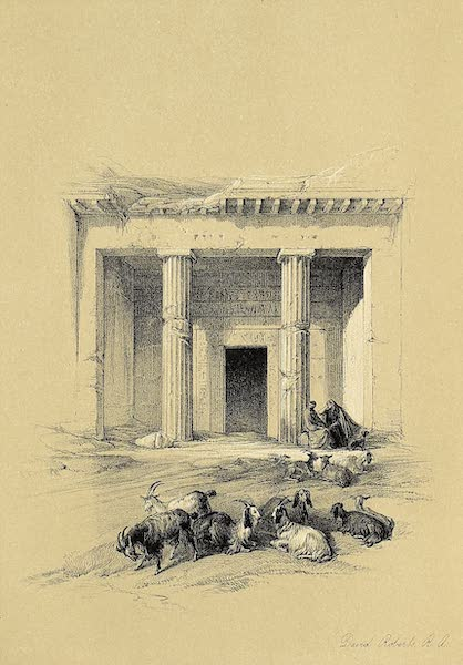 The Holy Land : Syria, Idumea, Arabia, Egypt & Nubia Vols. 3 & 4 - Entrance to the Caves at Beni-Hassan (1855)
