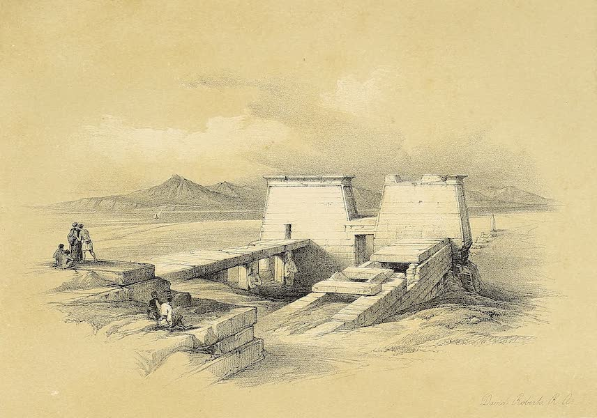 The Holy Land : Syria, Idumea, Arabia, Egypt & Nubia Vols. 3 & 4 - Temple of Wady Saboua, Nubia (1855)