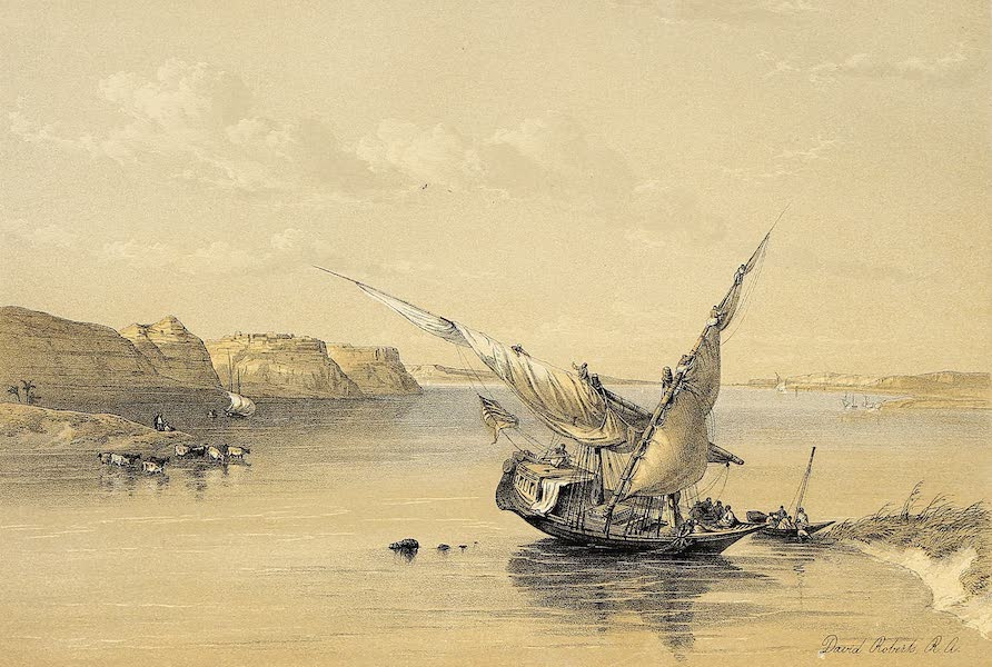 The Holy Land : Syria, Idumea, Arabia, Egypt & Nubia Vols. 5 & 6 - Approach to the Fortress of Ibrim (1855)