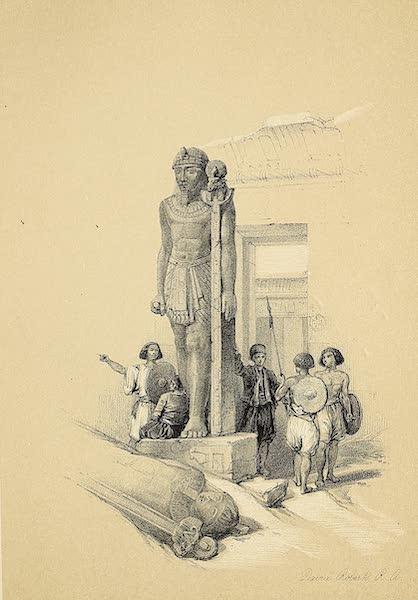 The Holy Land : Syria, Idumea, Arabia, Egypt & Nubia Vols. 5 & 6 - Colossi at Wady Saboua (1855)