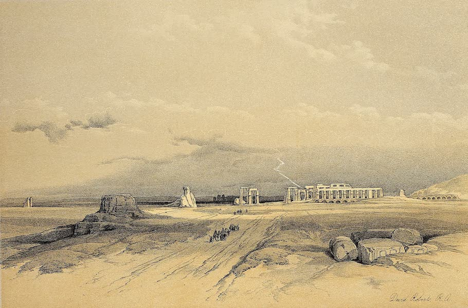 The Holy Land : Syria, Idumea, Arabia, Egypt & Nubia Vols. 5 & 6 - Ruins of the Menonium, Thebes (1855)