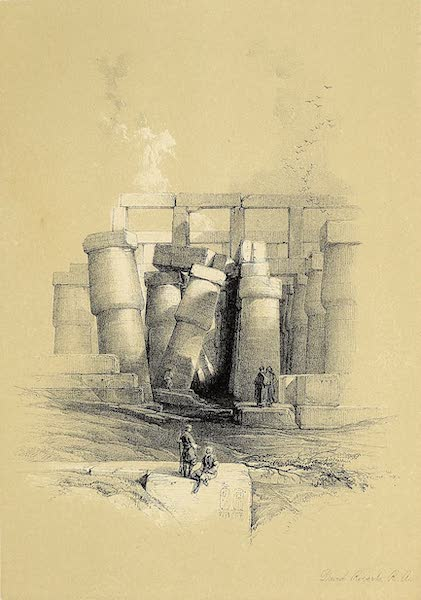 The Holy Land : Syria, Idumea, Arabia, Egypt & Nubia Vols. 5 & 6 - Part of the Hall of Columns at Karnak, Seen from Throughout (1855)