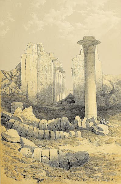 The Holy Land : Syria, Idumea, Arabia, Egypt & Nubia Vols. 5 & 6 - Dromos, or First Court of the Temple of Karnak (1855)