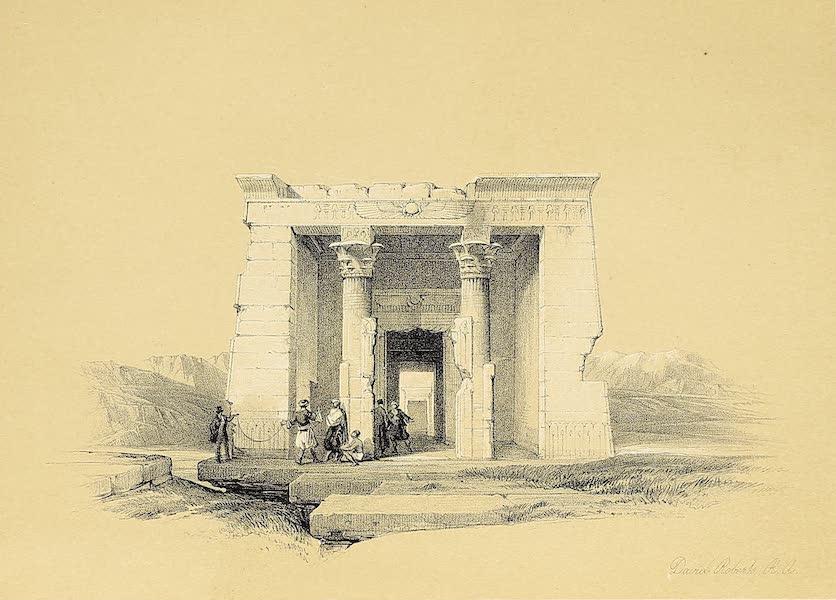 The Holy Land : Syria, Idumea, Arabia, Egypt & Nubia Vols. 5 & 6 - Temple of Dandour, Nubia (1855)