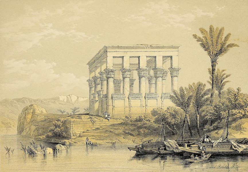 The Holy Land : Syria, Idumea, Arabia, Egypt & Nubia Vols. 5 & 6 - The Hypaethral Temple at Philae (1855)