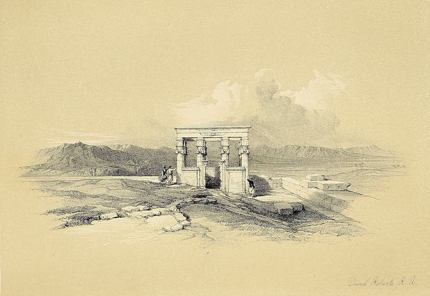 The Holy Land : Syria, Idumea, Arabia, Egypt & Nubia Vols. 5 & 6 - Temple of Isis on the Roof of the Great Temple of Dendera (1855)