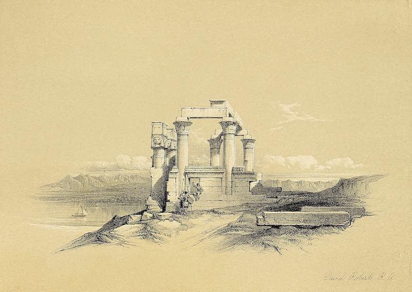 The Holy Land : Syria, Idumea, Arabia, Egypt & Nubia Vols. 5 & 6 - Temple of Wady Kardassy, Nubia (1855)