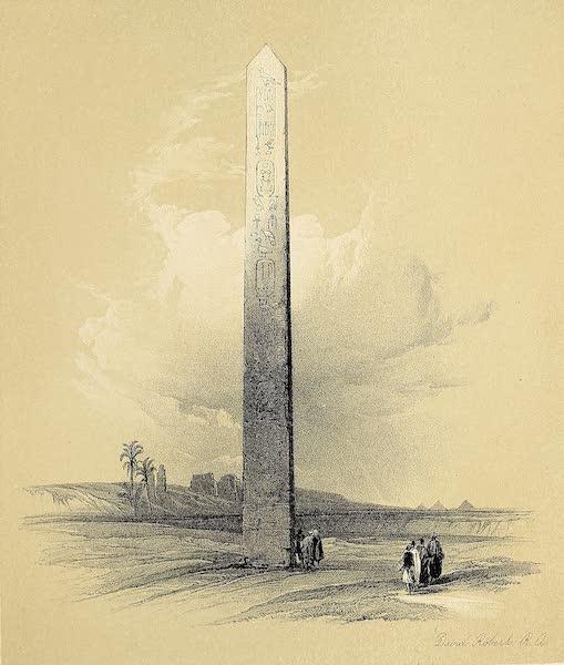The Holy Land : Syria, Idumea, Arabia, Egypt & Nubia Vols. 5 & 6 - Obelisk of On (1855)