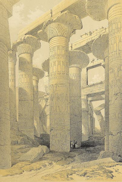 The Holy Land : Syria, Idumea, Arabia, Egypt & Nubia Vols. 5 & 6 - Oblique View of the Hall of Columns, Karnak (1855)