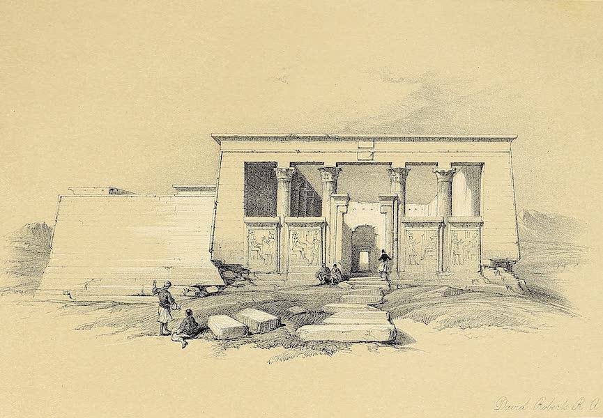 The Holy Land : Syria, Idumea, Arabia, Egypt & Nubia Vols. 5 & 6 - Temple of Wady Dabod, Nubia (1855)