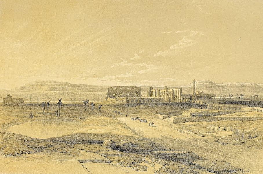 The Holy Land : Syria, Idumea, Arabia, Egypt & Nubia Vols. 5 & 6 - General View of Karnak, looking towards Baban-El-Molook (1855)