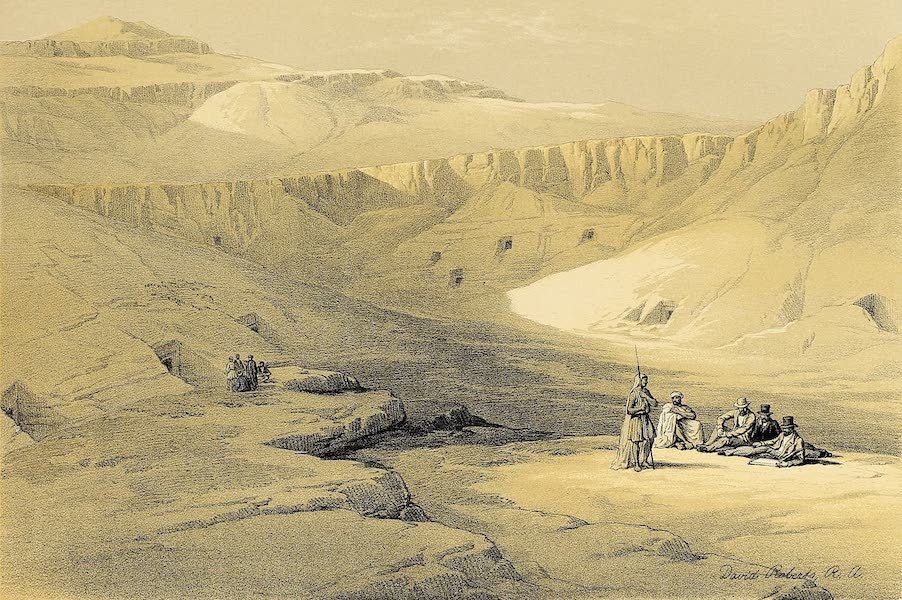 The Holy Land : Syria, Idumea, Arabia, Egypt & Nubia Vols. 5 & 6 - Entrance to the Tombs of the Kings, Baban-El-Molook (1855)