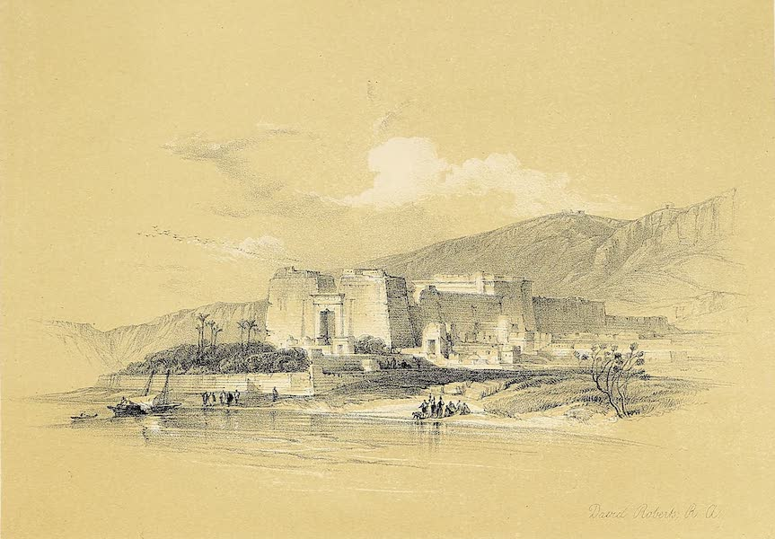 The Holy Land : Syria, Idumea, Arabia, Egypt & Nubia Vols. 5 & 6 - General View of the Kalabshe, formerly Talmis, Nubia (1855)