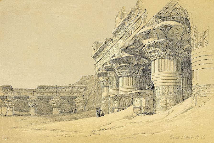 The Holy Land : Syria, Idumea, Arabia, Egypt & Nubia Vols. 5 & 6 - Facade of the Pronaos of the Temple of Edfou (1855)