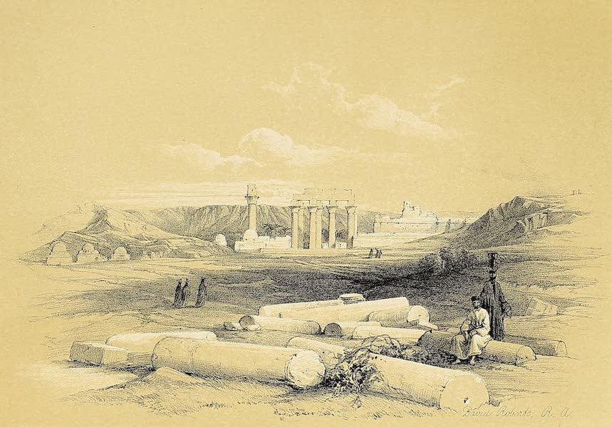 The Holy Land : Syria, Idumea, Arabia, Egypt & Nubia Vols. 5 & 6 - Ruins of Erment, Ancient Hermontis, Upper Egypt (1855)