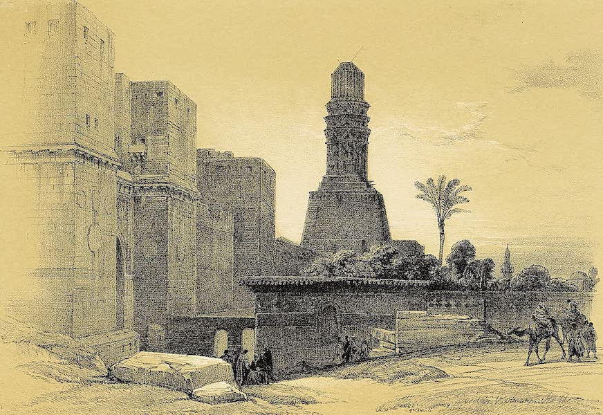 The Holy Land : Syria, Idumea, Arabia, Egypt & Nubia Vols. 5 & 6 - Bab-El-Nasr, or Gate of Victory, and Mosque of El Hakim, Cairo (1855)