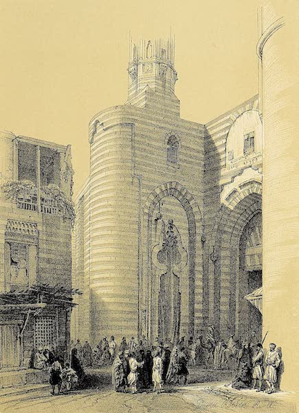 The Holy Land : Syria, Idumea, Arabia, Egypt & Nubia Vols. 5 & 6 - The Gate of the Metwalis, or Bab Zuweyleh (1855)