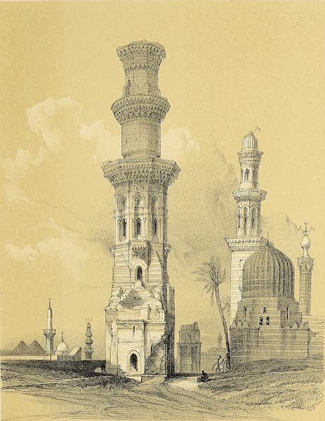 The Holy Land : Syria, Idumea, Arabia, Egypt & Nubia Vols. 5 & 6 - Ruined Mosques in the Desert West of the Citadel (1855)