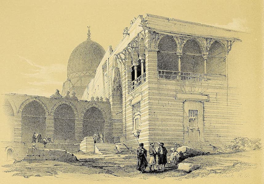 The Holy Land : Syria, Idumea, Arabia, Egypt & Nubia Vols. 5 & 6 - One of the Tombs of the Caliphs, Cairo (1855)