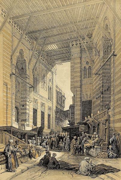 The Holy Land : Syria, Idumea, Arabia, Egypt & Nubia Vols. 5 & 6 - The Silk-Mercers' Bazaar of El Gooreyeh, Cairo (1855)