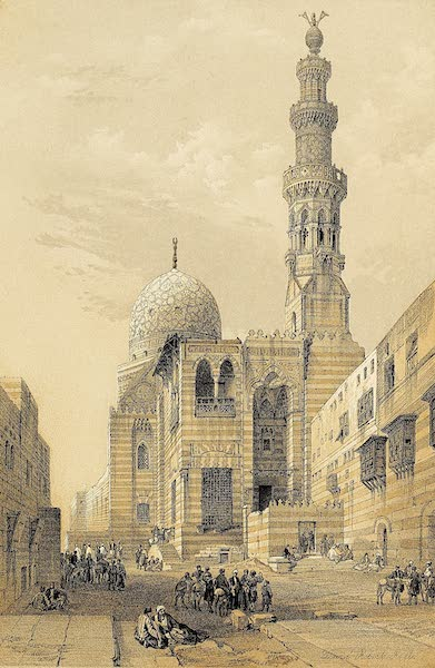 The Holy Land : Syria, Idumea, Arabia, Egypt & Nubia Vols. 5 & 6 - Mosque of the Sultan Kaitbey, Cairo (1855)