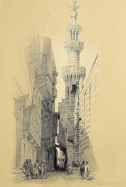 The Holy Land : Syria, Idumea, Arabia, Egypt & Nubia Vols. 5 & 6 - Minaret of the Mosque El Rhamree (1855)