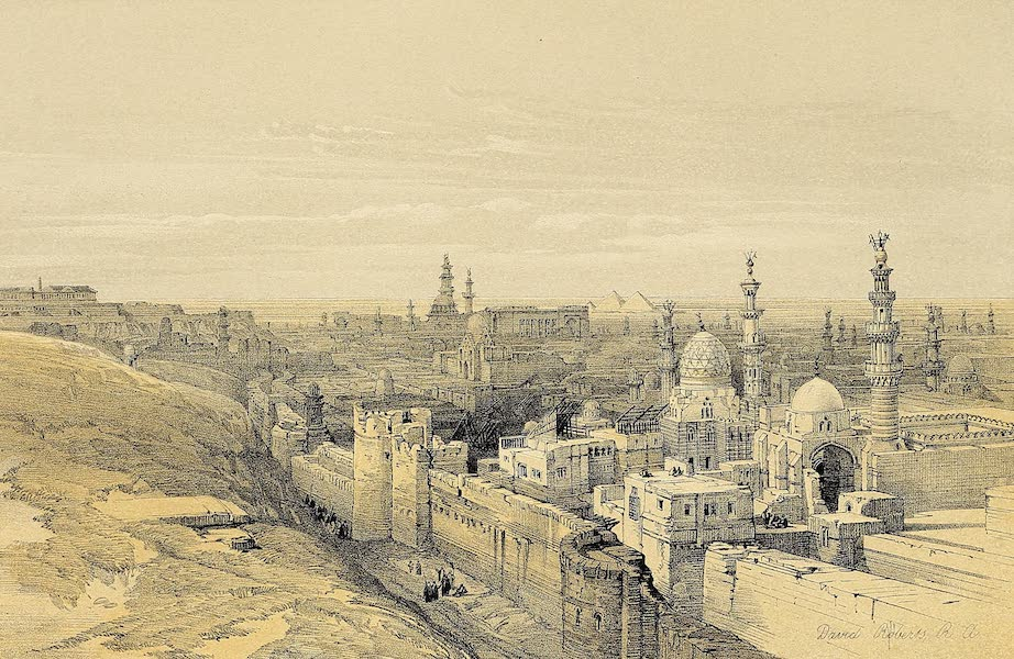 The Holy Land : Syria, Idumea, Arabia, Egypt & Nubia Vols. 5 & 6 - General View of Cairo from the West (1855)