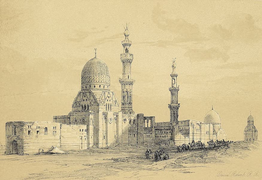 The Holy Land : Syria, Idumea, Arabia, Egypt & Nubia Vols. 5 & 6 - Mosque of Ayed Bey in the Desert of Suez (1855)