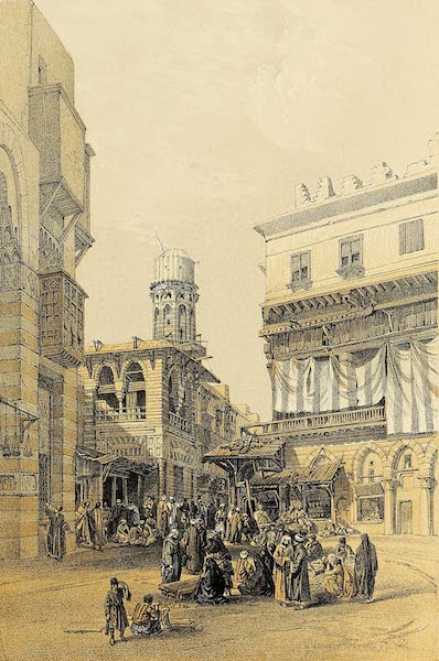 The Holy Land : Syria, Idumea, Arabia, Egypt & Nubia Vols. 5 & 6 - Bazaar of the Coppersmiths, Cairo (1855)
