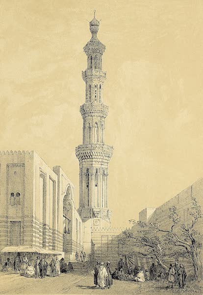 The Holy Land : Syria, Idumea, Arabia, Egypt & Nubia Vols. 5 & 6 - Minaret of the Principal Mosque in Siout, Upper Egypt (1855)