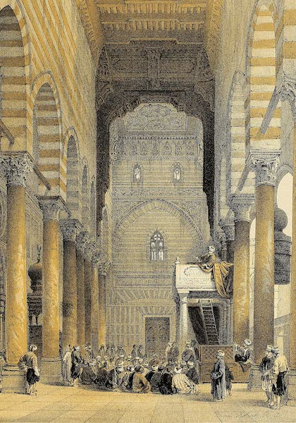 The Holy Land : Syria, Idumea, Arabia, Egypt & Nubia Vols. 5 & 6 - Interior of the Mosque of the Metwalis (1855)