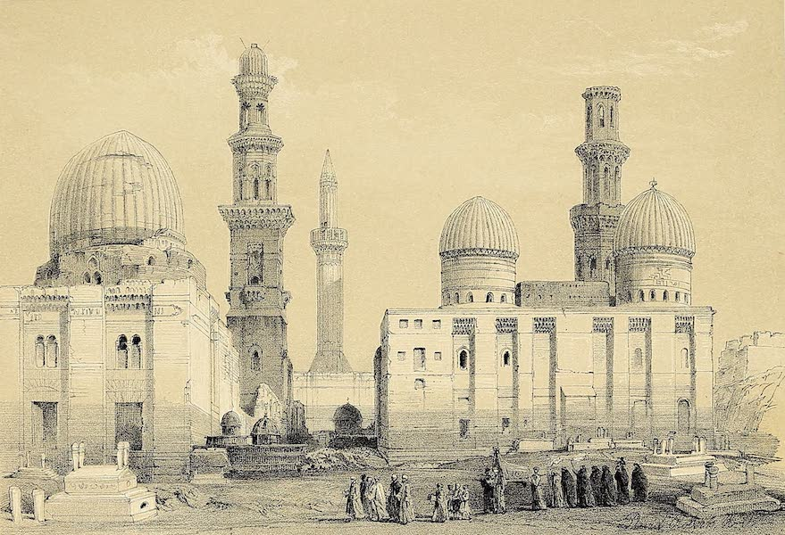 The Holy Land : Syria, Idumea, Arabia, Egypt & Nubia Vols. 5 & 6 - Tombs of the Memlooks, Cairo, with an Arab Funeral (1855)