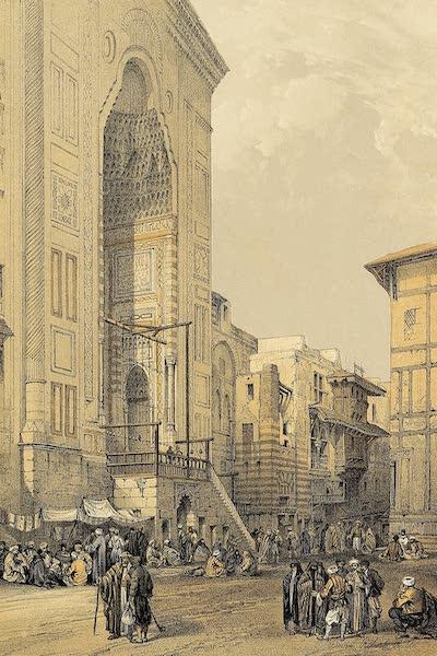 The Holy Land : Syria, Idumea, Arabia, Egypt & Nubia Vols. 5 & 6 - Grand Entrance to the Mosque El Mooristan, Cairo (1855)
